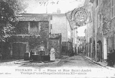 Pignans place et rue Saint-andré