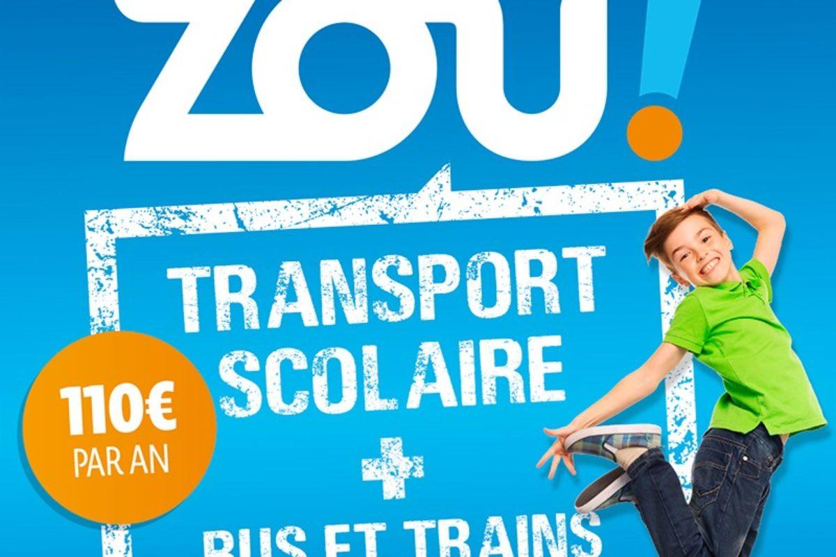 [Transports scolaires] Pass Zou – Inscriptions jusqu'au 31 juillet