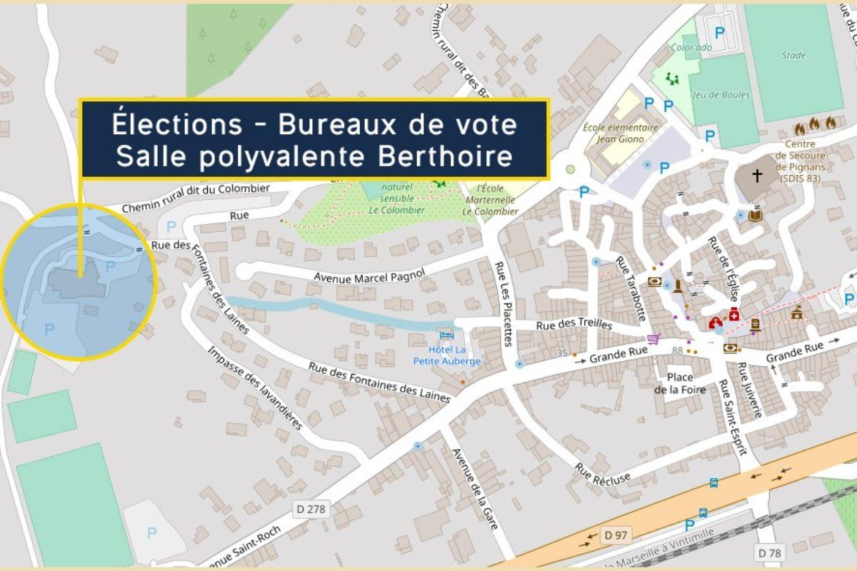 Élections : Bureaux de votes – Salle Polyvalente Berthoire