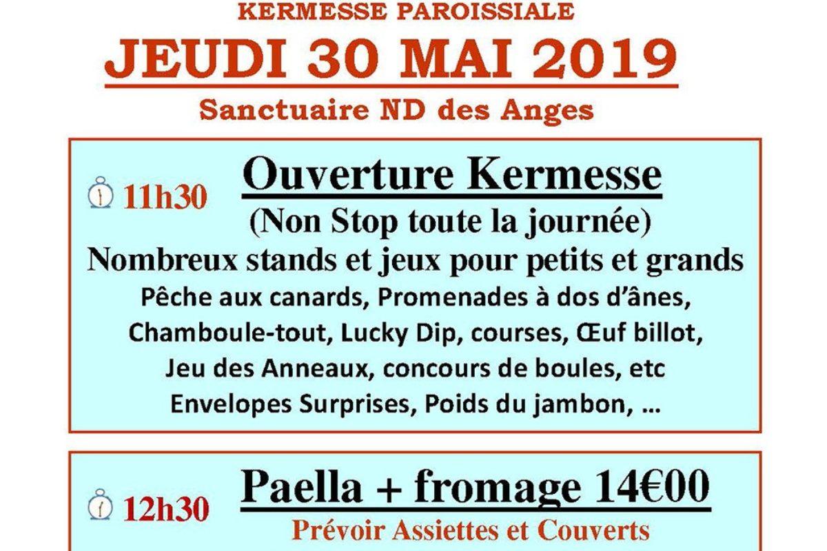 [Kermesse] Jeudi 30 mai à Notre Dame des Anges