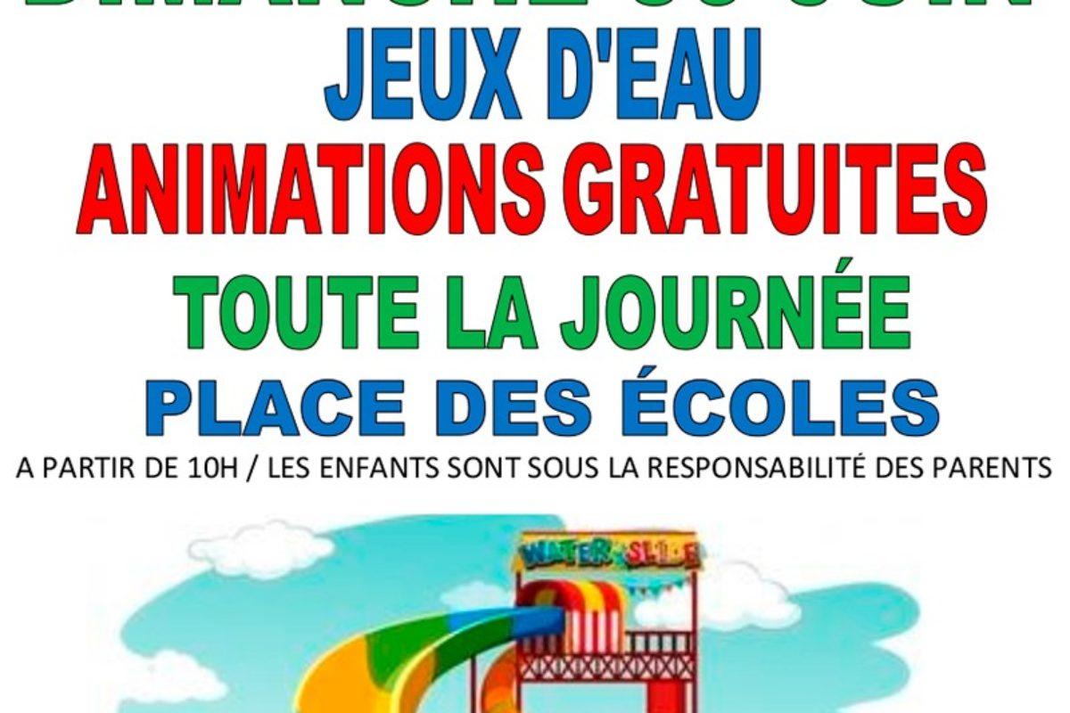 30 juin – Jeux d'eau – animations gratuites