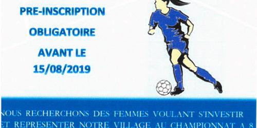 USP – Création d'une équipe féminine – Saison 2019-20