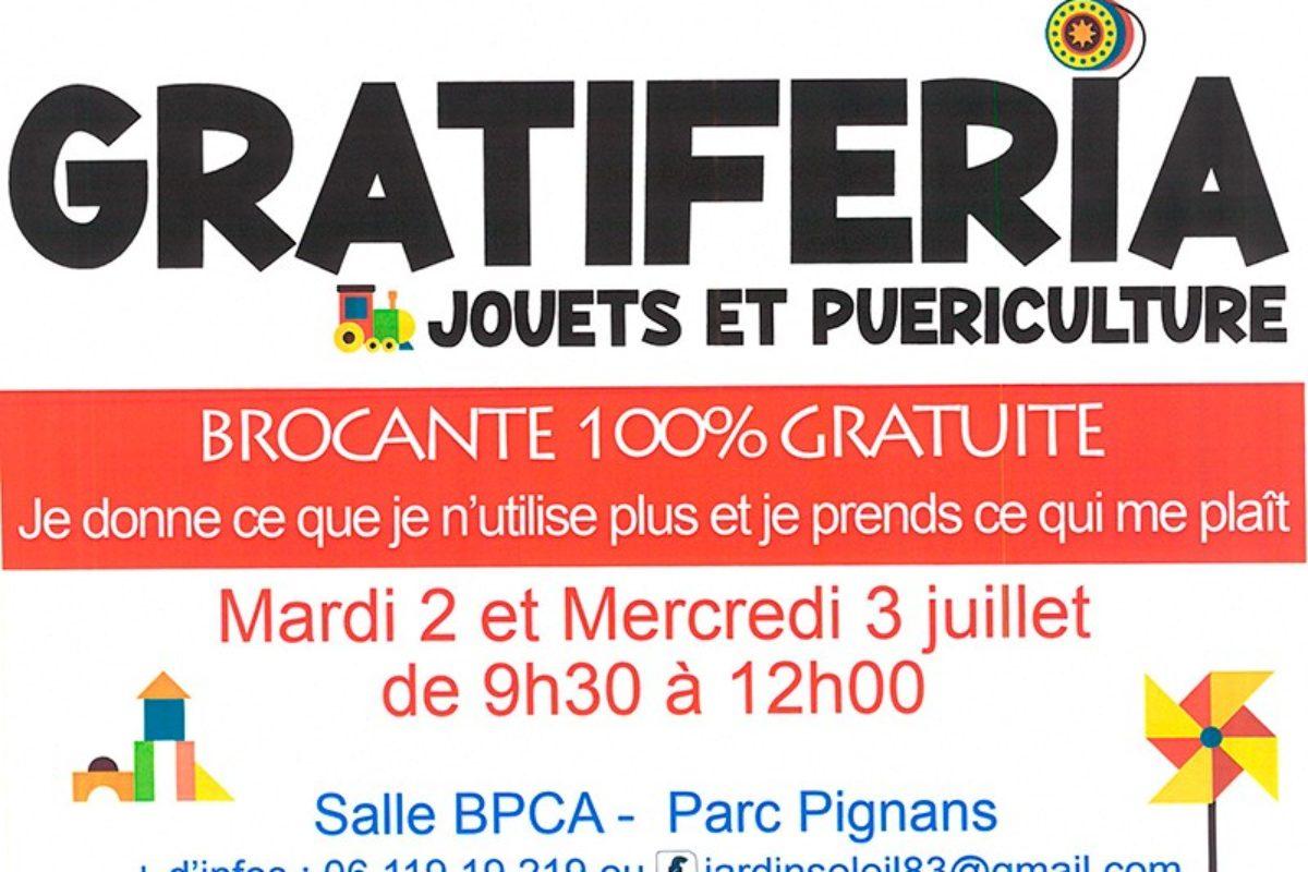 2 et 3 juillet – Gratiferia – Salle BCPA – 9h30 à 12h