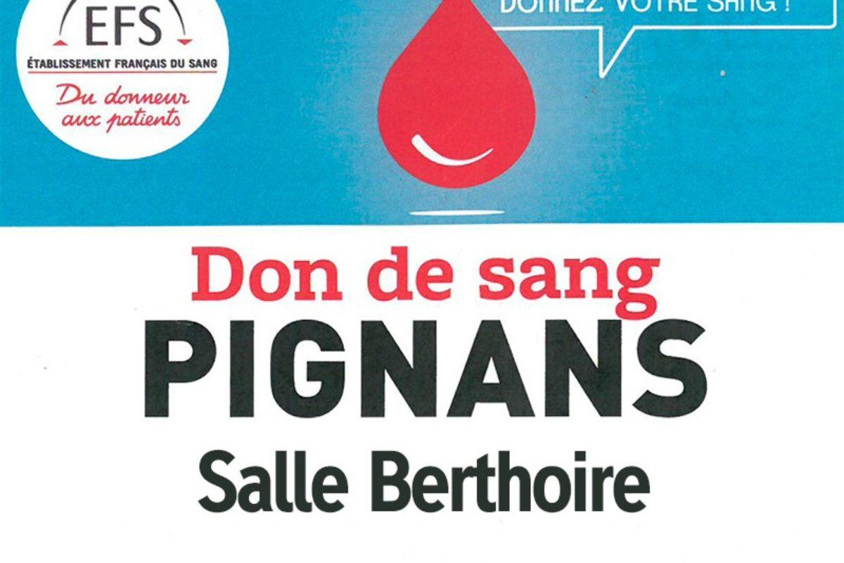 25 juillet Don du Sang – Salle Berthoire