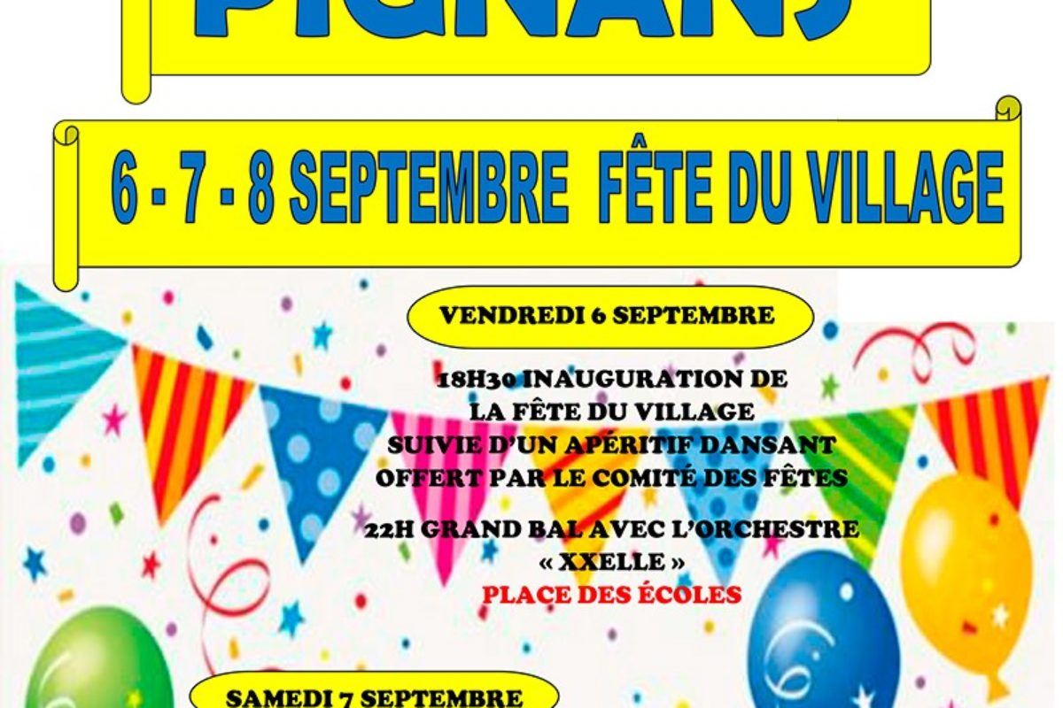 6/7/8 septembre  – Fête du village