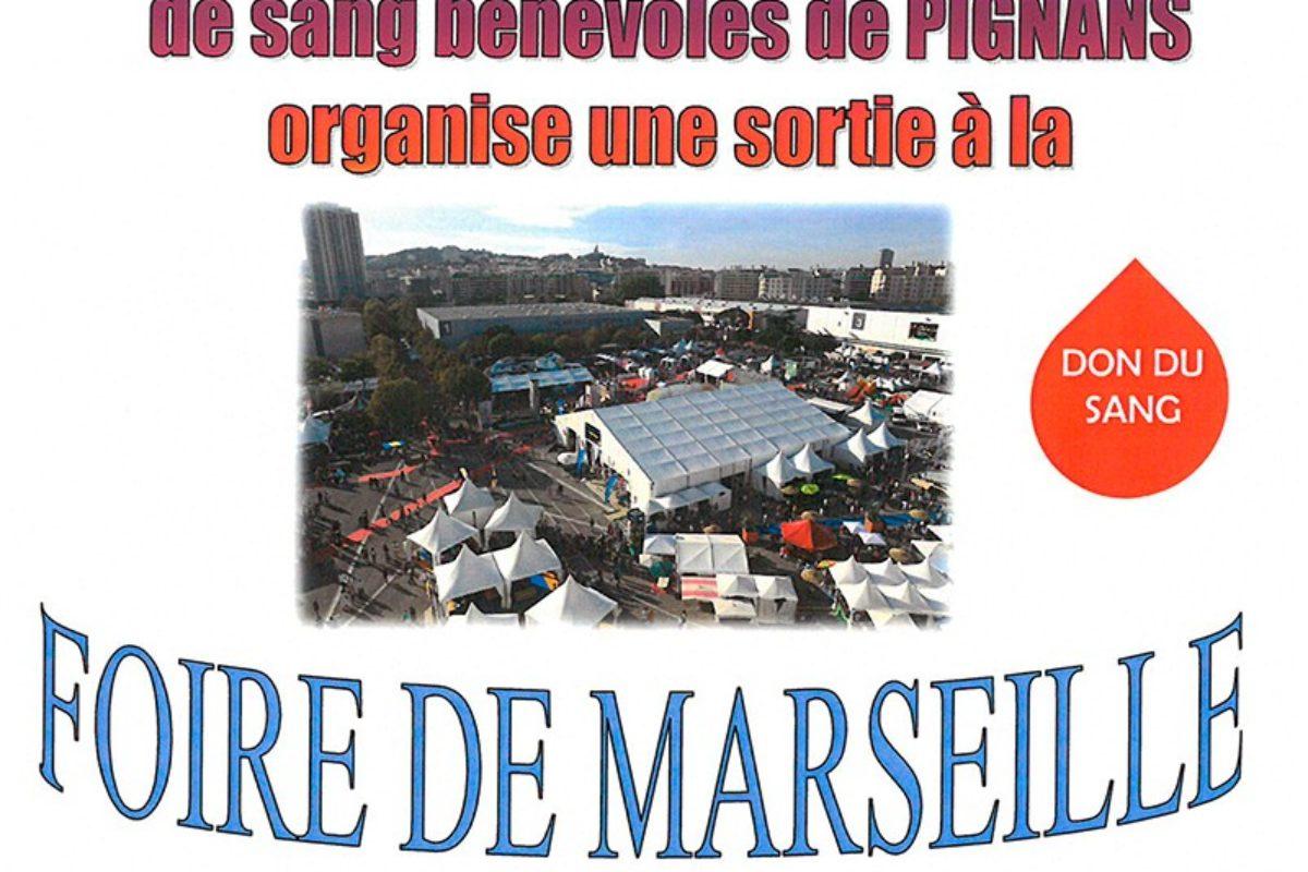 30 septembre – Sortie foire de Marseille