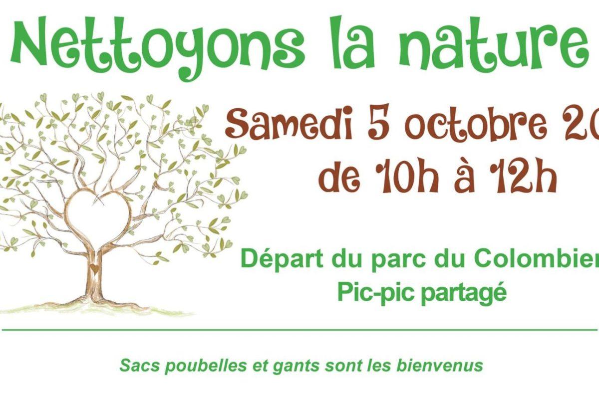 5 octobre – Nettoyons la nature
