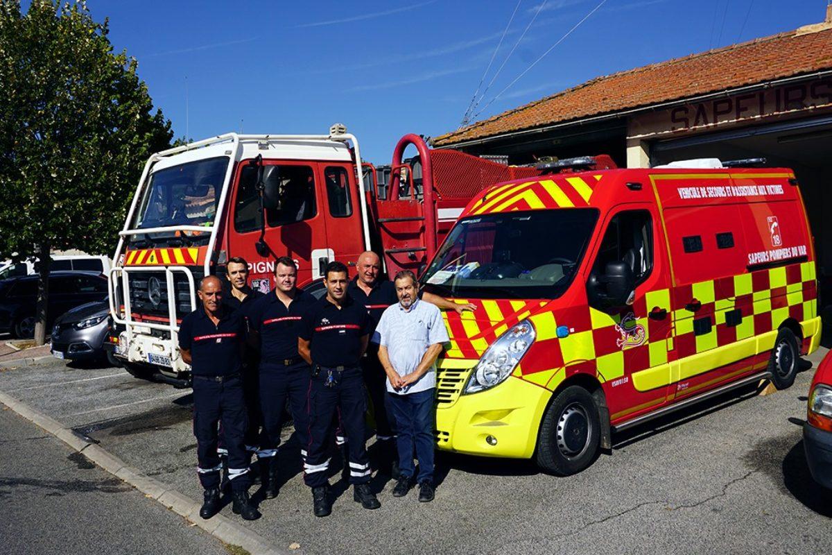 Une nouvelle ambulance pour la caserne de Pignans