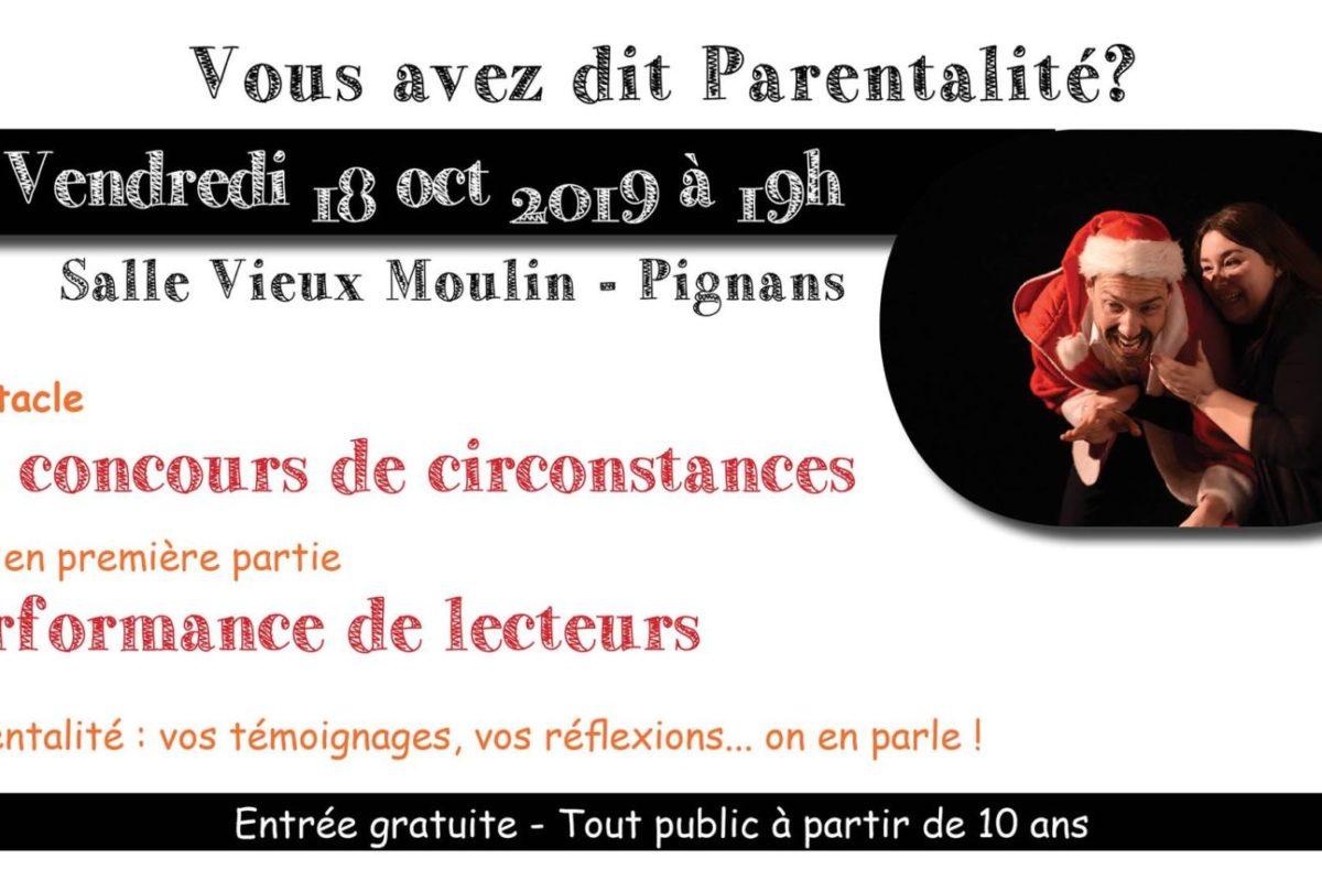 18 octobre – Soirée théâtre et parentalité