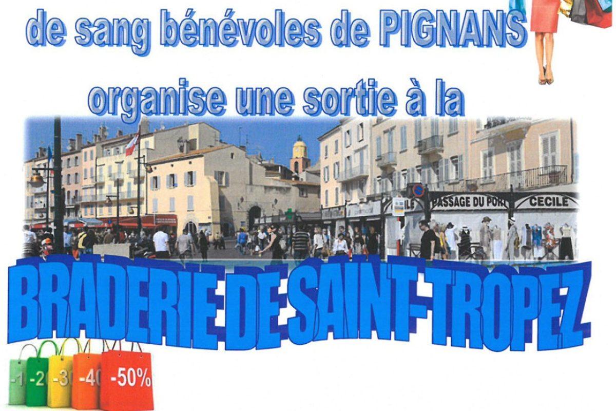 28 Oct – Sortie à la braderie de St Tropez