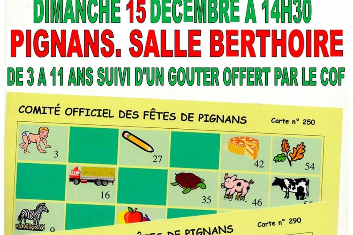 15 décembre – Loto des enfants