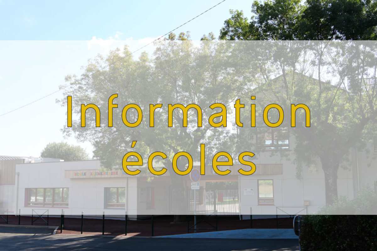 [Écoles] Informations confinement
