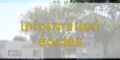 [Écoles] Informations confinement