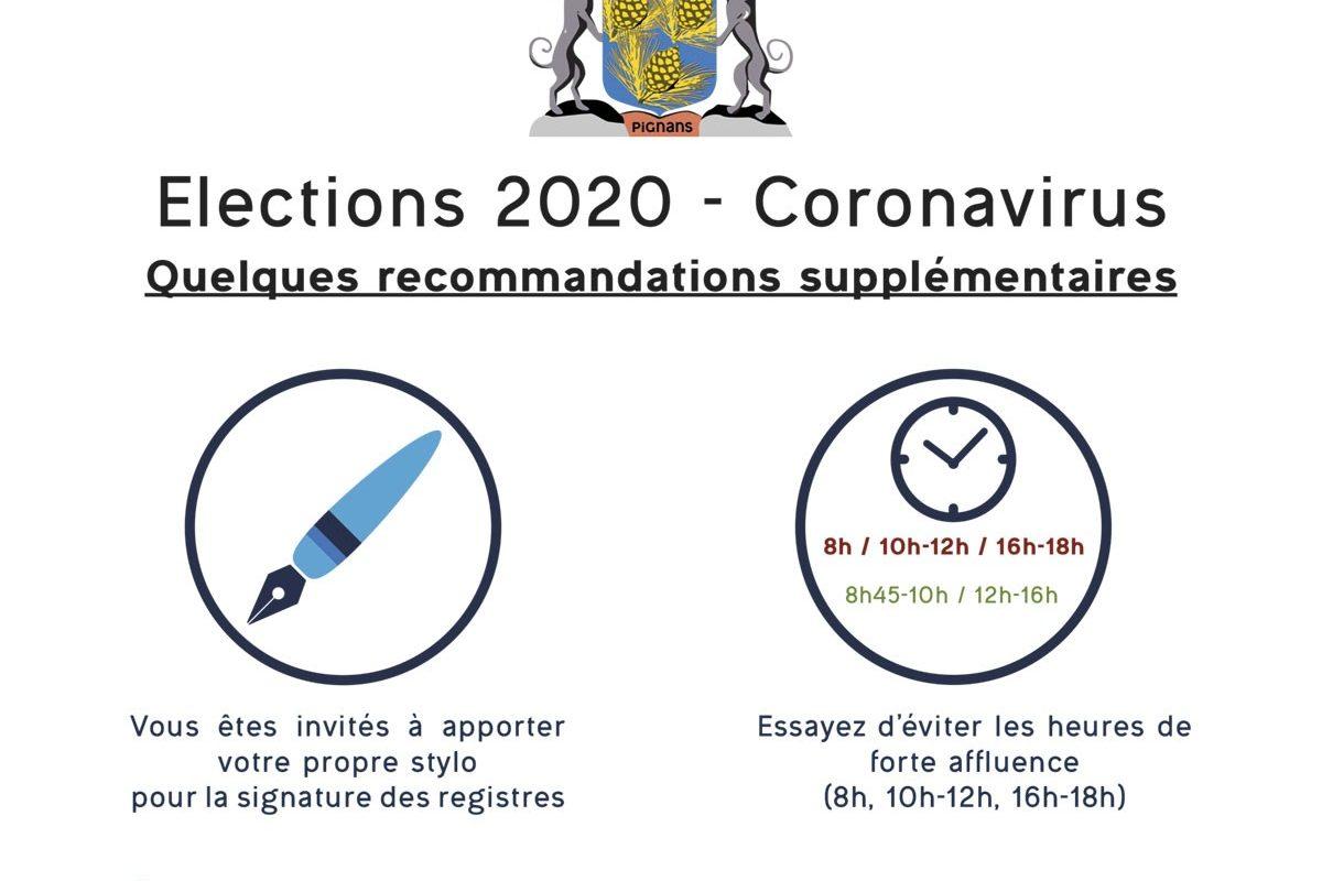 Élections 2020 – Coronavirus