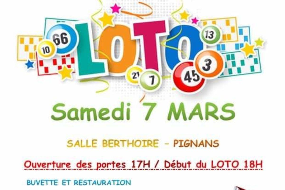 7 mars – LOTO – Coeur de la collégiale – 18h