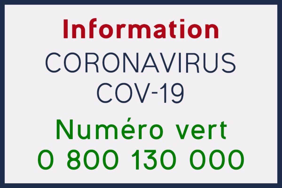 Numéro Vert national d'information sur le coronavirus