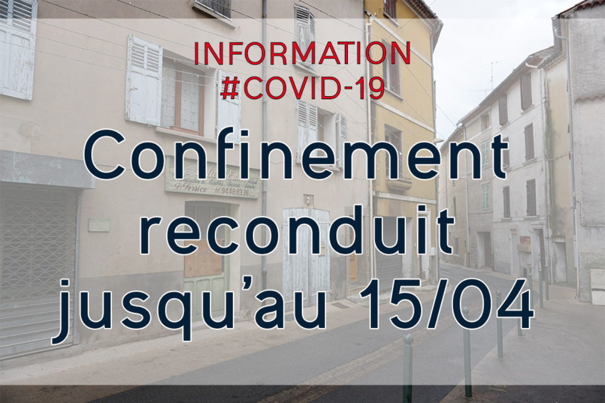 [Covid-19] Confinement reconduit jusqu'au 15 avril 2020
