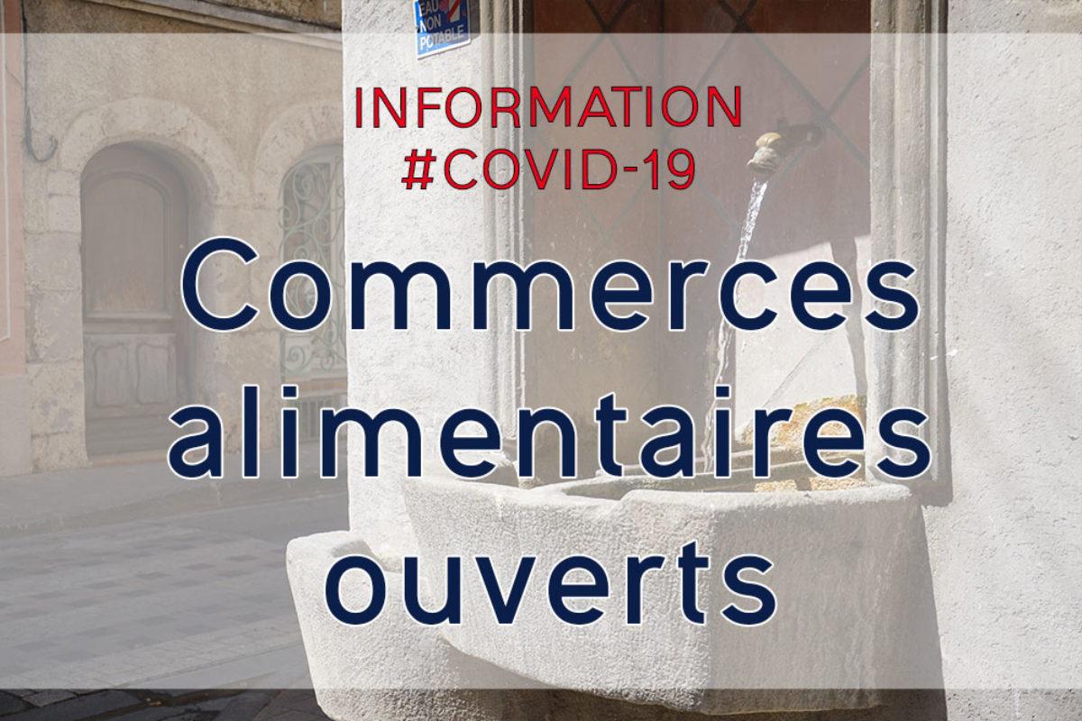[Covid-19] Annuaire des commerces alimentaires du village