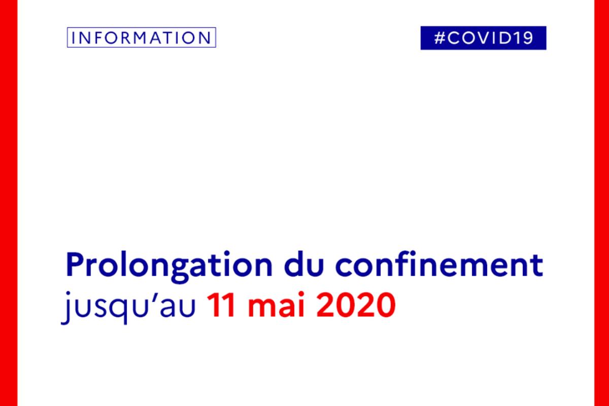 [Covid-19] Confinement prolongé jusqu'au 11 mai 2020