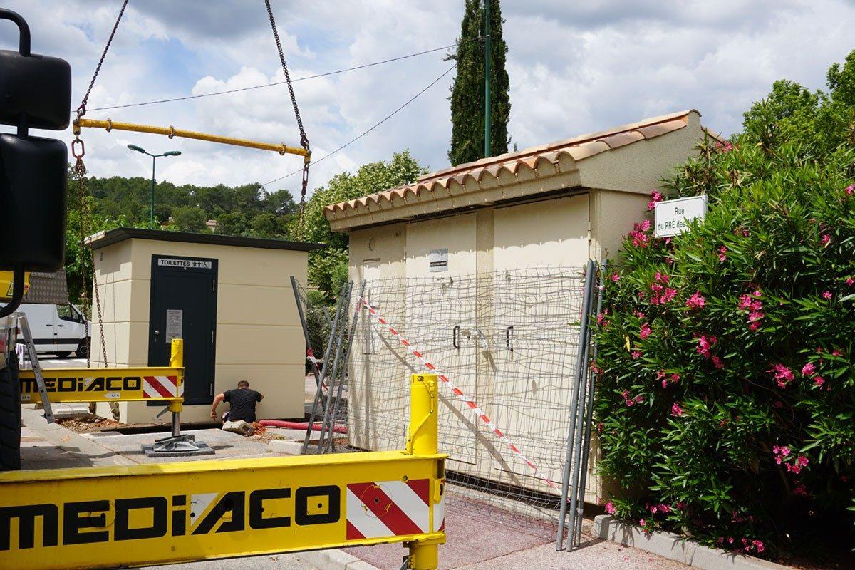 [Travaux] Installation des nouveaux WC publics