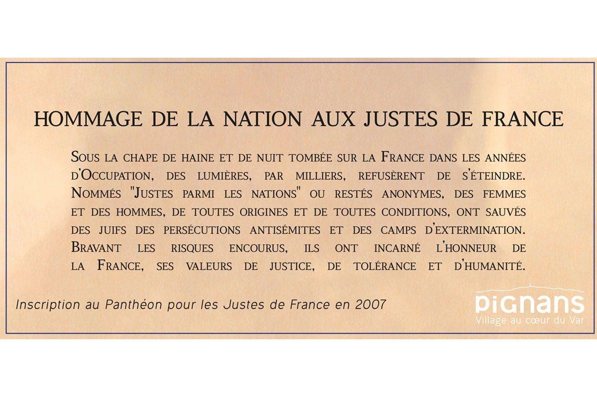 19 Juillet – Cérémonie d'hommage aux Justes de France