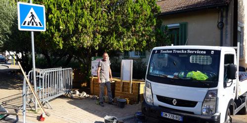 🚧✅ [Travaux] Aménagement du trottoir place des écoles