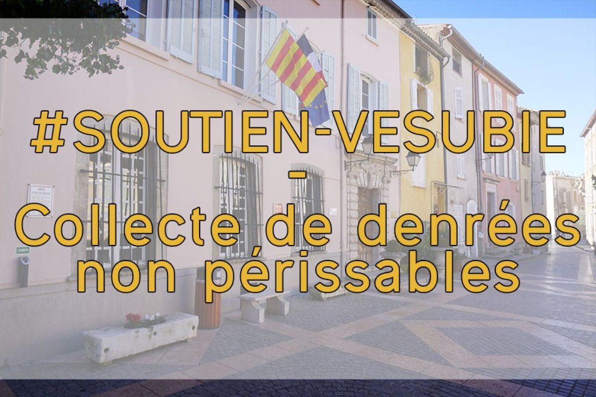 ⛑️[Solidarité] Collecte de denrées non périssables en soutien aux sinistrés de la vallée de la Vésubie.