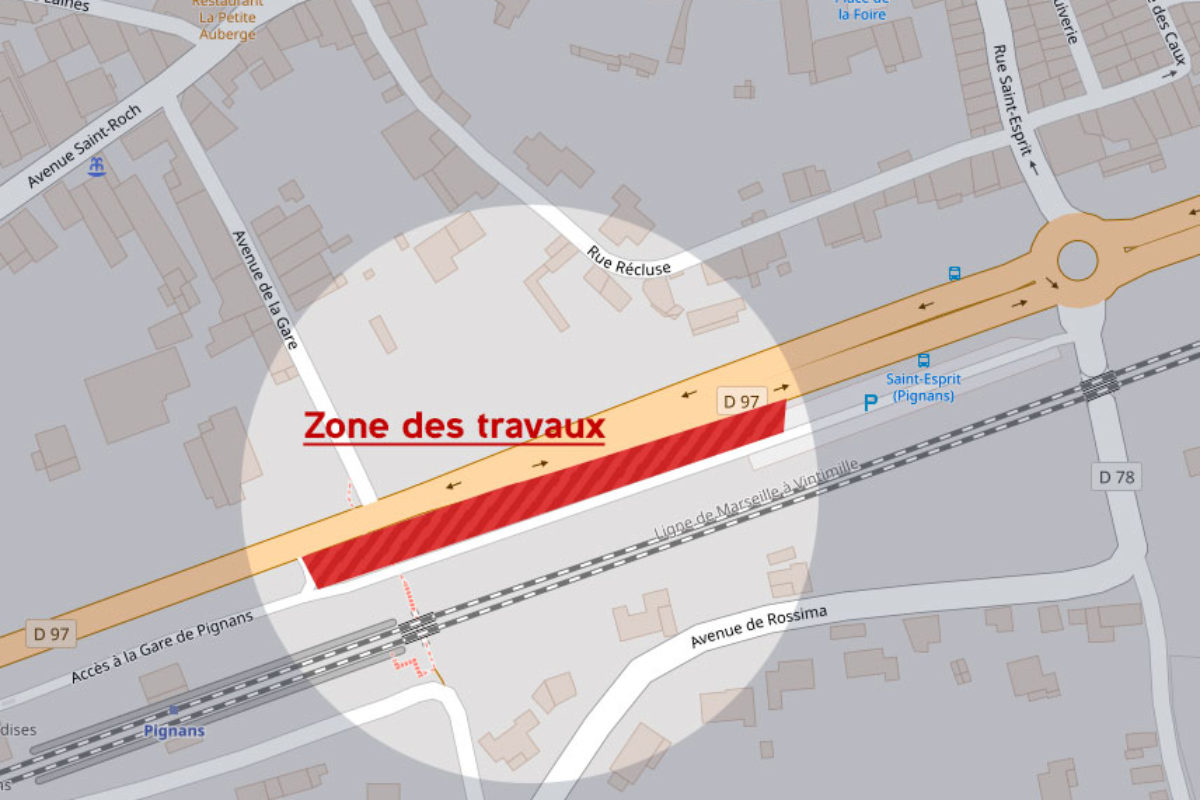 [Travaux] Débroussaillement parking SNCF – stationnement interdit