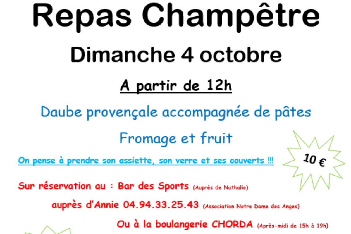 4 oct. – [ANNULE] Repas champêtre