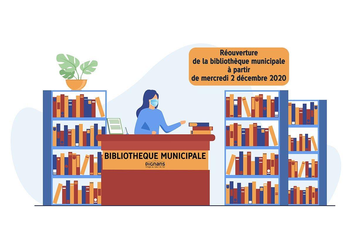 📖[Bibliothèque municipale] Réouverture de 2 décembre 2020