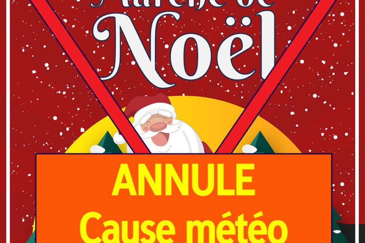 ❌Marché de Noël annulé – cause météo