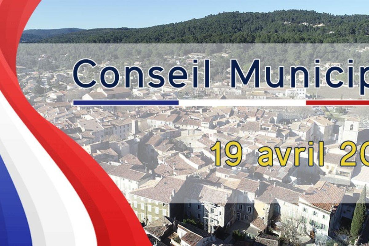 19 avril 2021 – Conseil Municipal