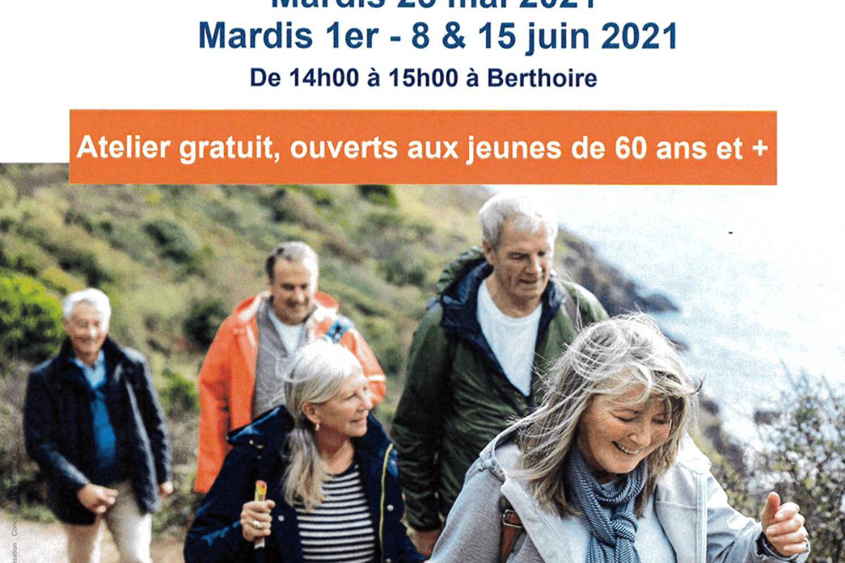 """Ateliers """"nutrition"""" et """"marche active"""" pour les plus de 60 ans – fin inscrip' 12 mai"""
