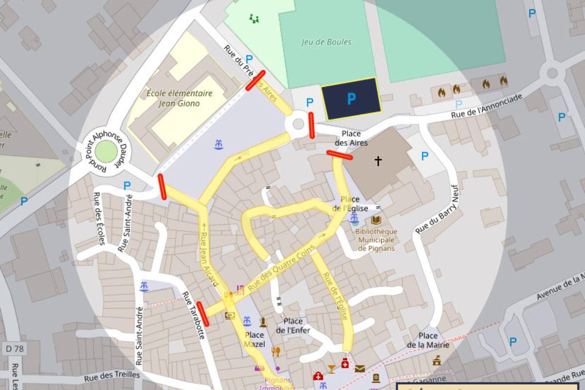 Vide grenier du 13 juin 2021 – Circulation et stationnement réglementés