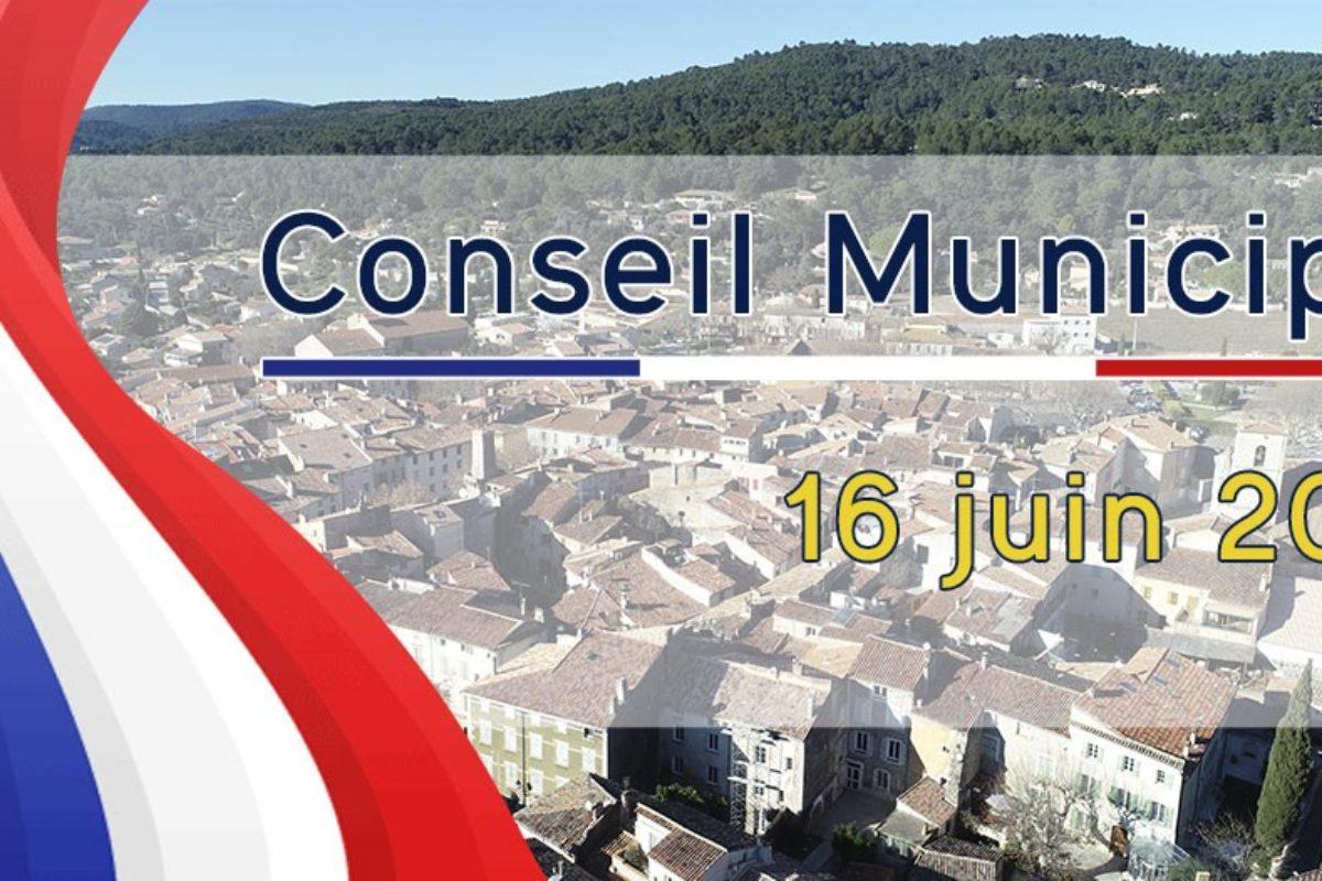 16 juin 2021 – Conseil Municipal