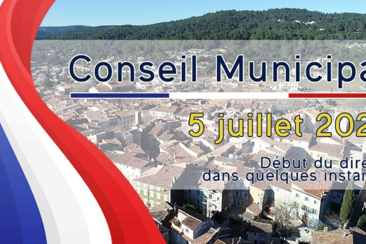 5 juillet 2021 – Conseil Municipal