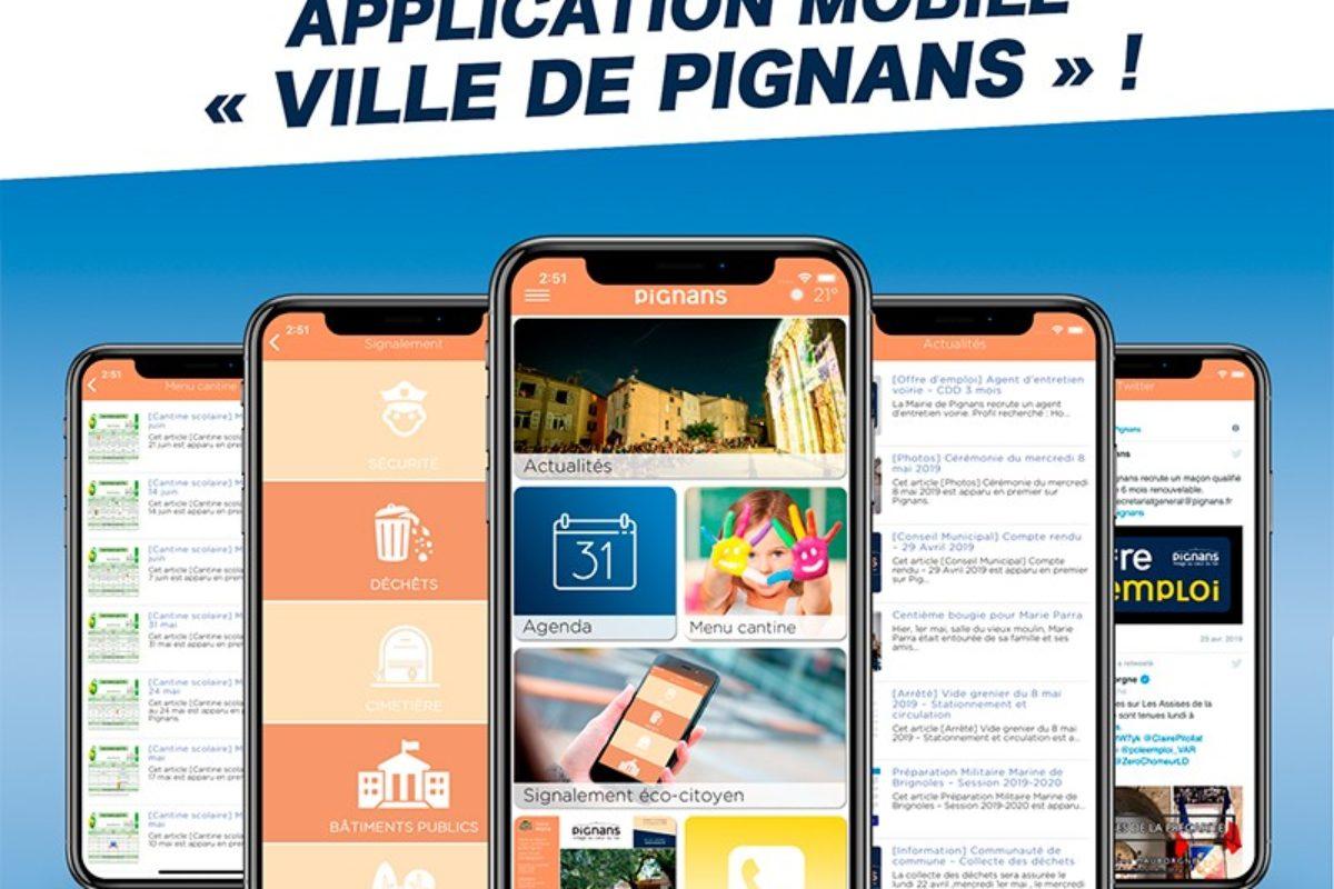L'application mobile de Pignans est arrivée !