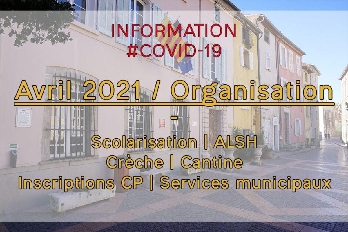 [Covid-19] Avril 2021 – Nouvelles mesures – Écoles | Services municipaux