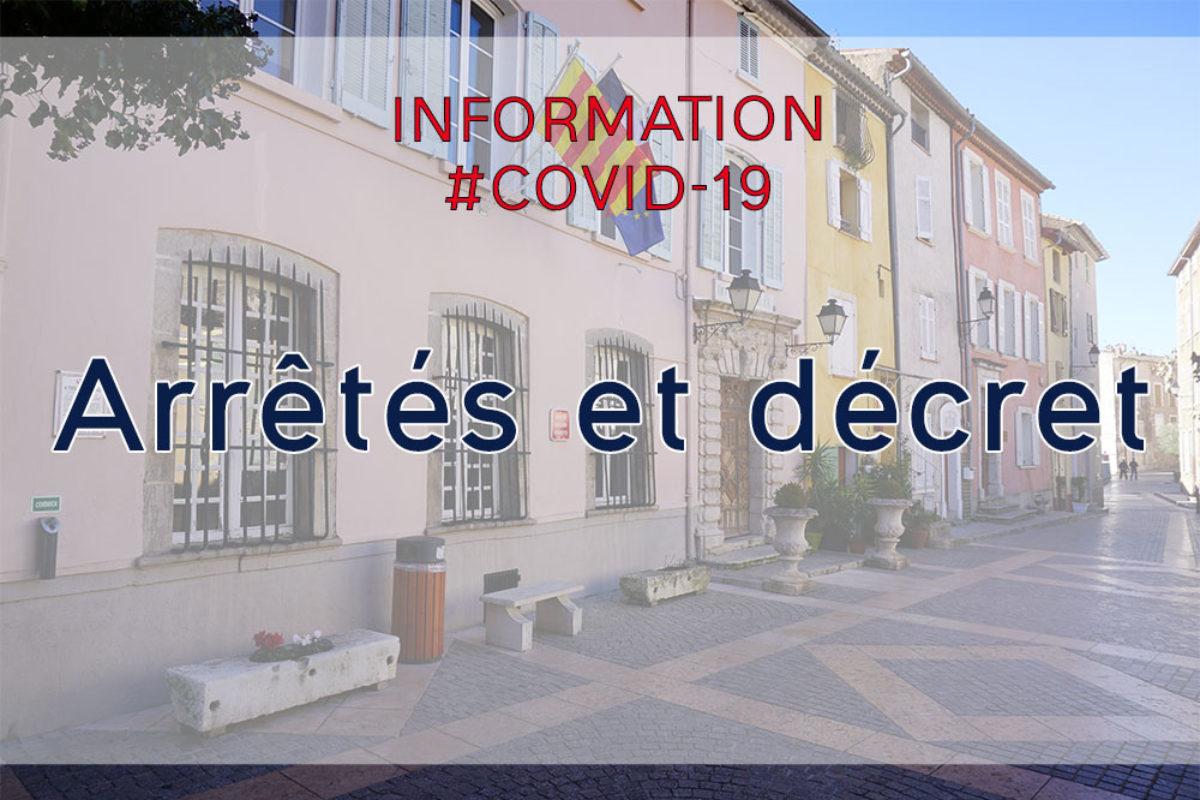 [Covid 19] Arrêtés et décret du 16 et 17 octobre