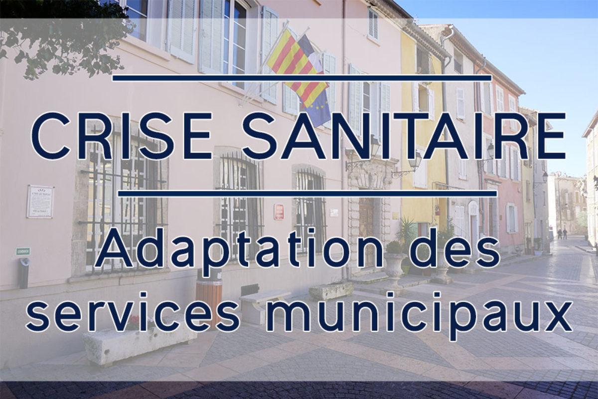 [Crise sanitaire] Adaptation des services municipaux