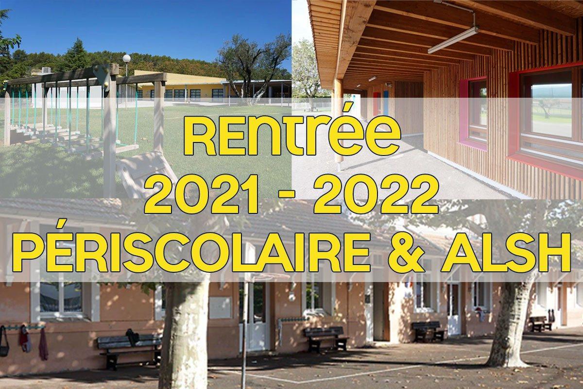 [Rentrée 2021-2022] Périscolaire et Accueil de Loisir du Mercredi