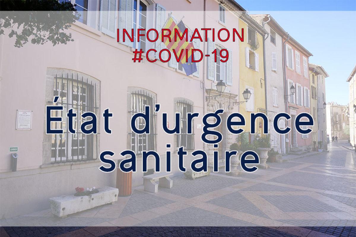État d'urgence sanitaire   depuis le samedi 17 octobre