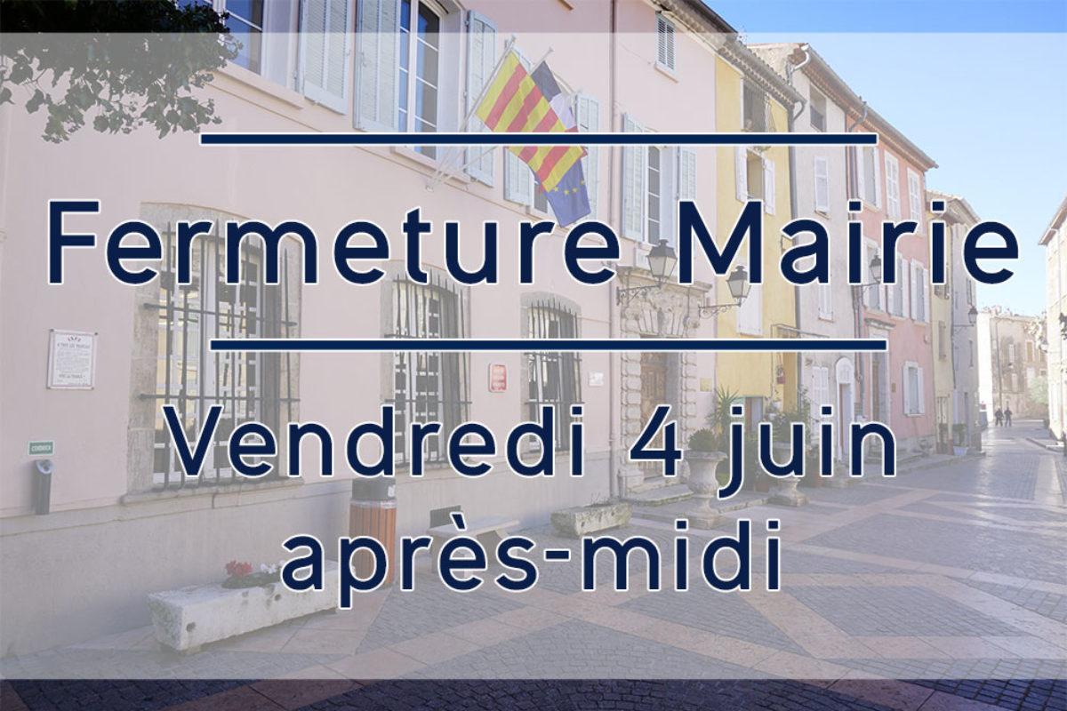 4 juin 2021 – Mairie fermée l'après-midi