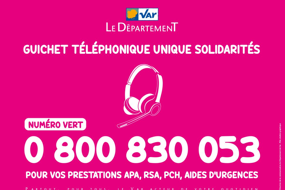 [Département] Nouveau service : Le« GUICHET TÉLÉPHONIQUE UNIQUE SOLIDARITÉS »