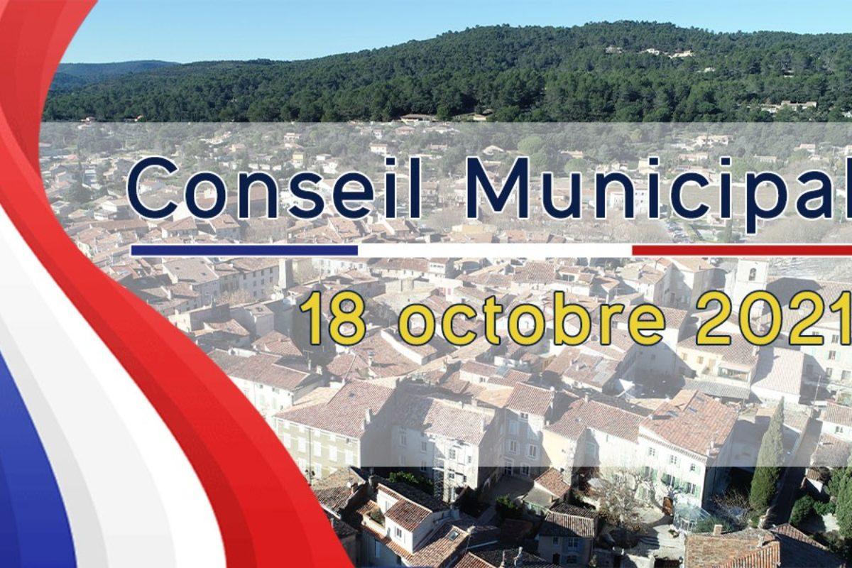 18 oct. 2021 – Conseil Municipal