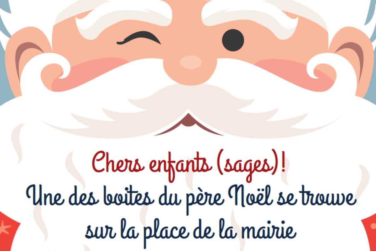 🎅Lettre au Père Noël – Une boite devant la Mairie.