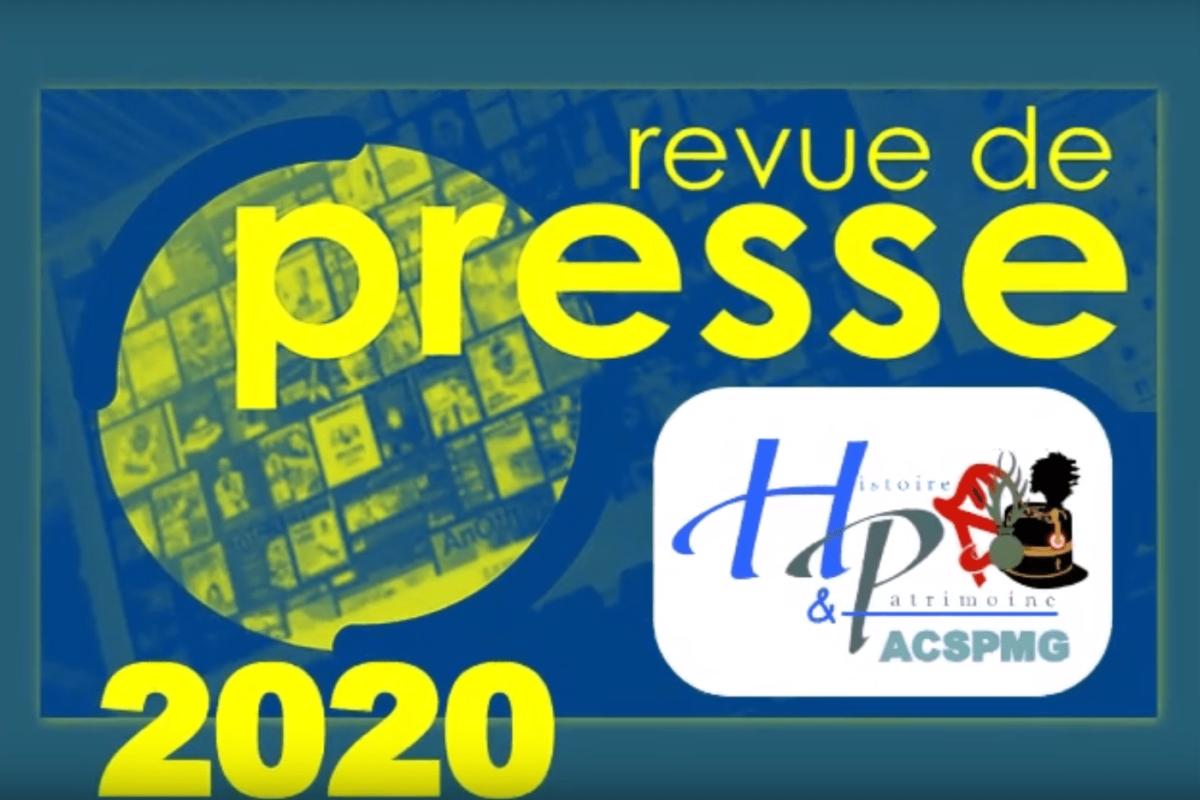 Revue de PRESSE 2020 de l'ACSPMG