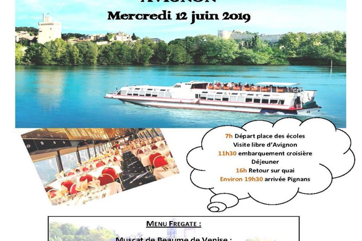 [CCAS] Croisière sur le Rhône et visite d'Avignon le 12 Juin 2019