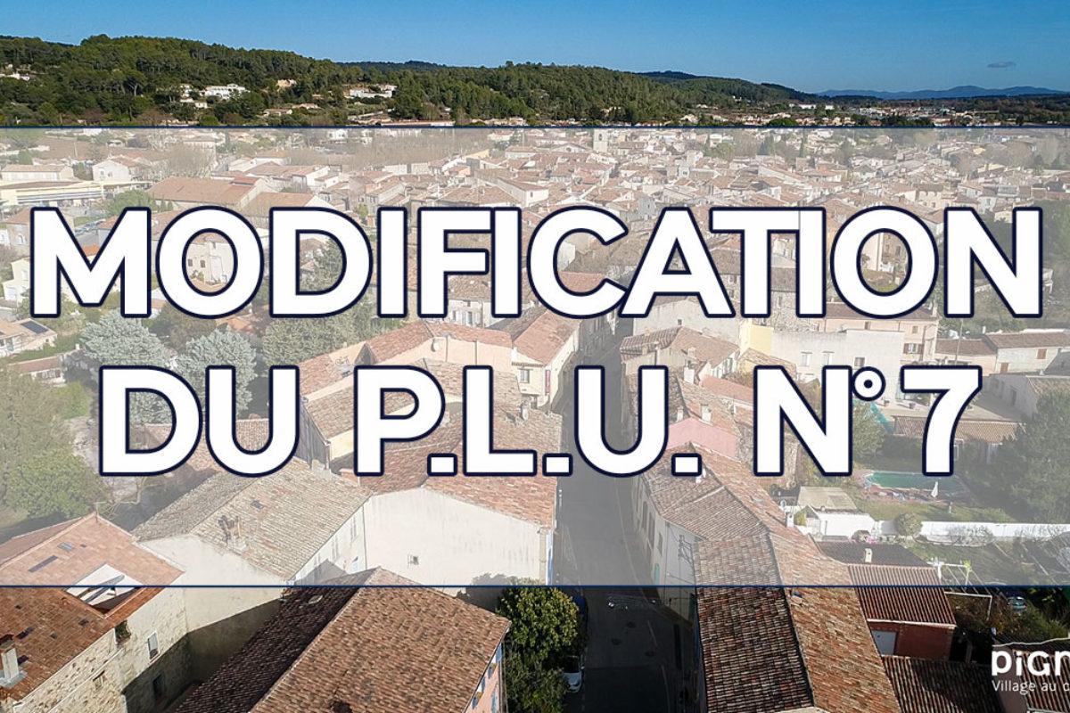 [Arrêté] Modification par voie simplifiée du P.L.U., n°7