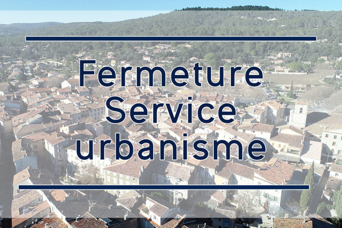 [Urbanisme] Service fermé le 23 octobre 2020